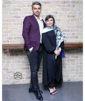 محمد رضا رهبري در کنار همسرش