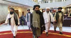 عکس رهبر طالبان در کاخ رياست جمهوري افغانستان